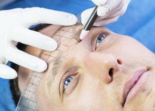 Permanent make-up for men