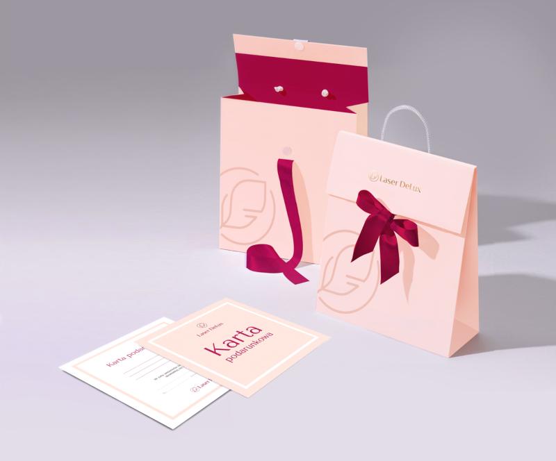 wizualizacja karty i torebki podarunkowej